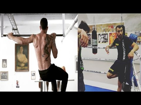 Makwan Amirkhani MMA training for Arnold Allen UFC London 2017