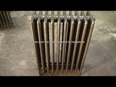 radiateur fonte brut vernis decapfonte youtube. Black Bedroom Furniture Sets. Home Design Ideas