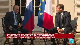 REPLAY - Allocution d'Emmanuel Macron devant Vladimir Poutine à Brégançon