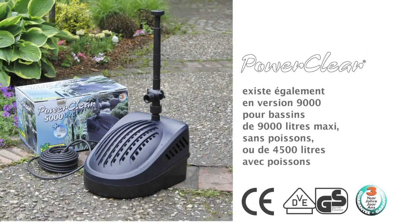 Power clear 5000 pompe filtre pour bassin de jardin youtube for Pompe de filtration pour bassin