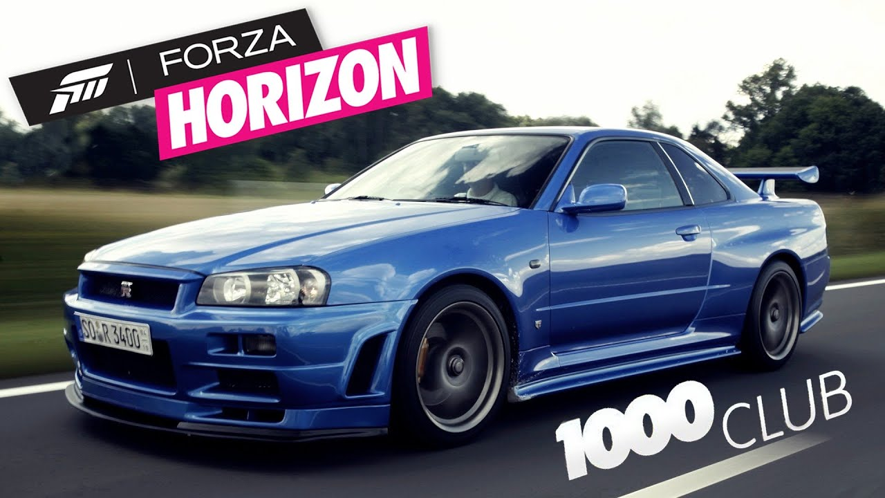 4 Forza Horizon 1000 Club Nissan Skyline Gt R R34 Pl