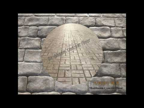 stamped concrete patterns and colors / colored stamped concrete pictures