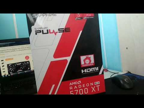 Sapphire PCI-Ex Radeon RX 5700 XT 8G Pulse 8GB GDDR6 (256bit) (1670/14000) (HDMI, 3 x DisplayPort) (11293-01-20G)