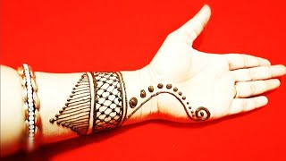 Dulhan Mehndi Design Arabic Simple