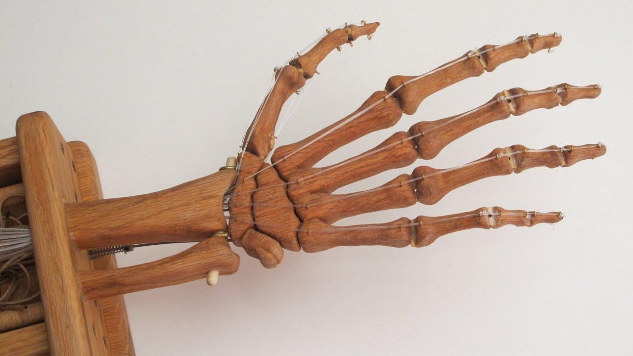 Wood Skeleton Hand - Making It Work - YouTube