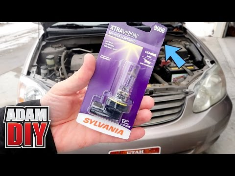 Toyota Corolla - How to replace a headlight bulb # 9006 Lamp - 2002