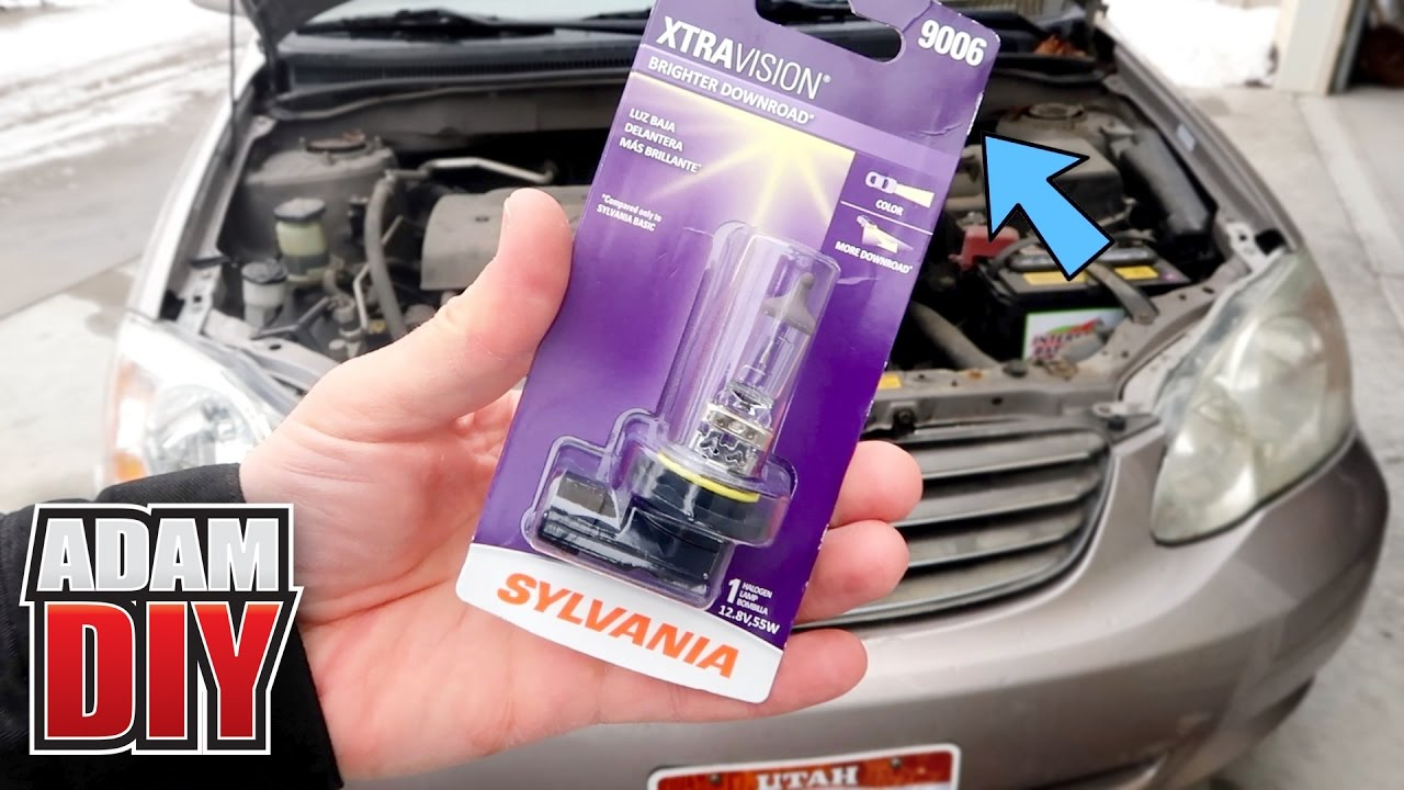 Toyota Corolla How To Replace A Headlight Bulb 9006 Lamp 2002 You