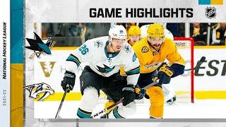 Sharks @ Predators 10/26/21 | NHL Highlights