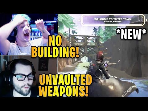 Streamers LANDING At The *NEW* Tilted Towers! *NO BUILDING*    Fortnite Highlights & Funny Moments