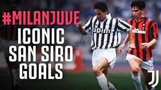 Iconic AC Milan-Juventus San Siro Goals! | Ronaldo, Baggio, Vieri & more