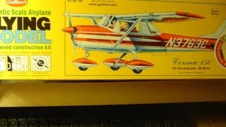 Guillows Cessna 150 Balsa Airplane Kit Progress Part 1
