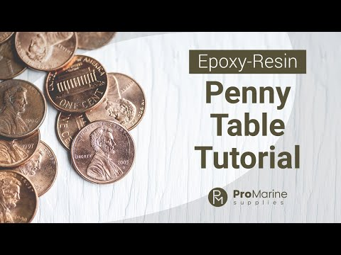 Epoxy Penny Table Tutorial
