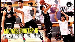 Michael Porter Jr Is The KING of 1 on 1!! Steph Curry Camp Back to Back Champ!