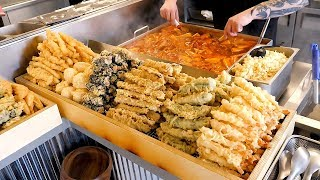 Popular Street Food in Korea (Tteokbokki, Fried food, Kimbap, Sundae, Fish cake)
