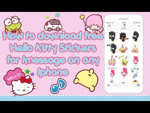 How to Download free Hello Kitty emojis for Imessage on any iphone !