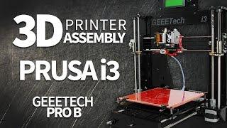geeetech prusa i3 pro b kit assembly 3d printer