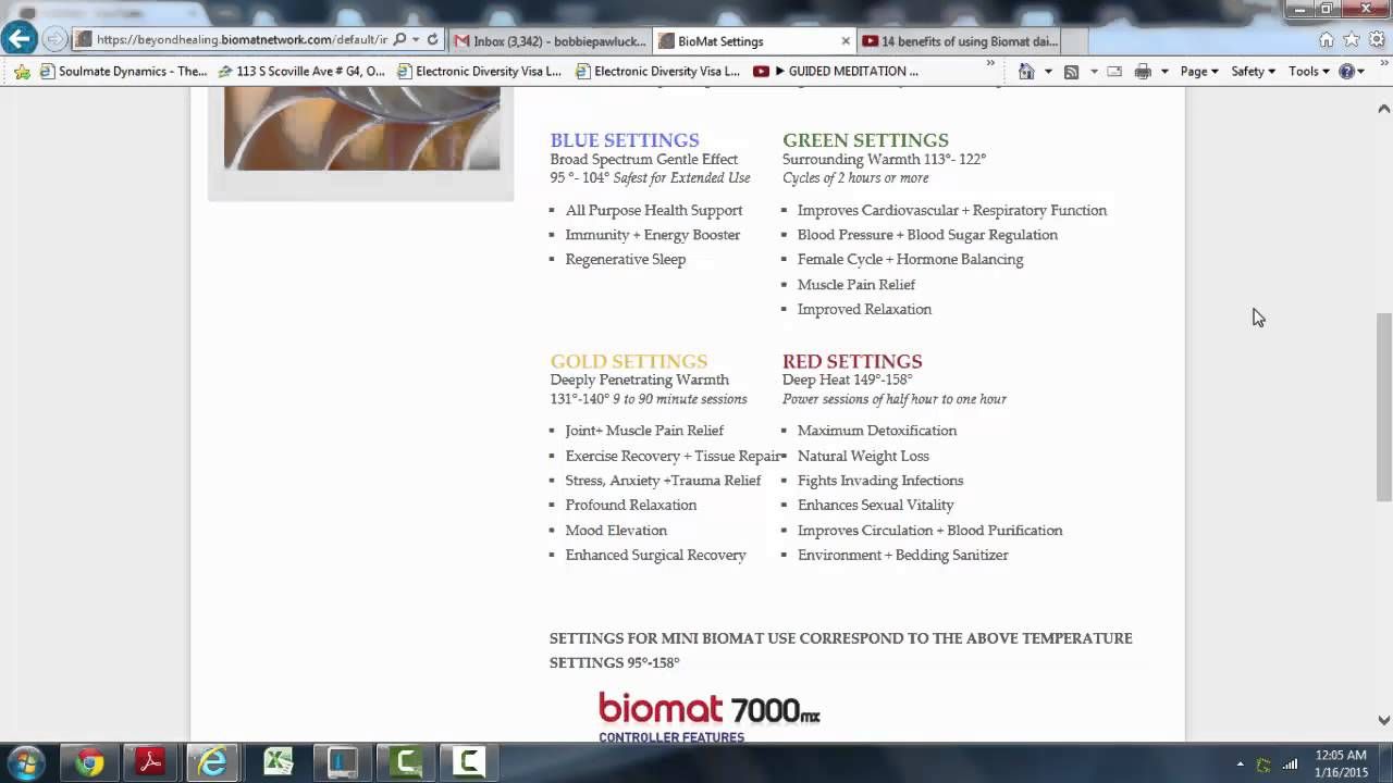 What temperature should I start using my Biomat at ?