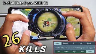 Redmi Note 9 Pro Test Game PUBG 4 Finger Full Gyro After Update MIUI 12 ( Smooth Extreme Graphics )