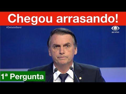 Debate na Band: Bolsonaro arrasa já na 1ª pergunta! Álvaro dias paga micão!