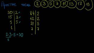 Разложение на простые множители 2