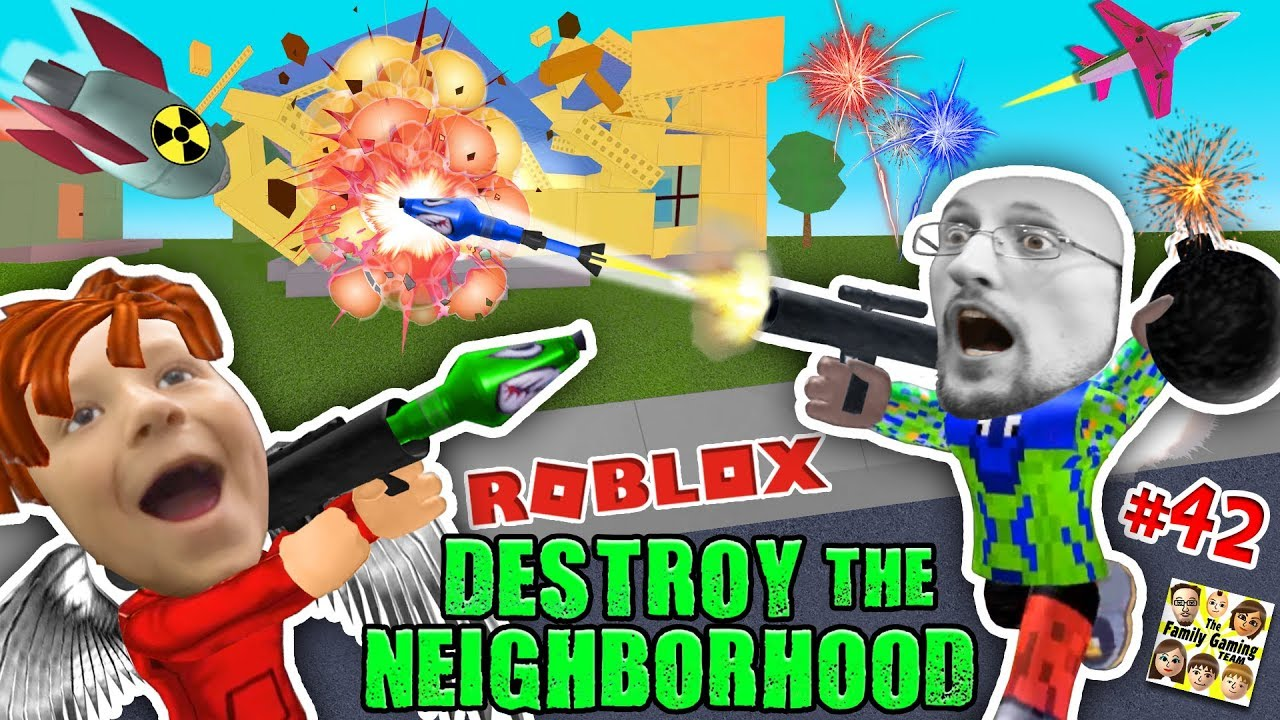 ROBLOX Destroy the Neighborhood w/ Airplane? AWESOME a