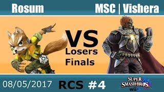 Baixar RCS #4 Smash Wii U Losers Finals - Rosum (Fox) vs MSC | Vishera (Ganondorf)