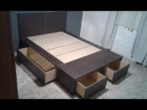 Dormibox sabemos como hacer una cama con cajones for Como hacer una base de cama