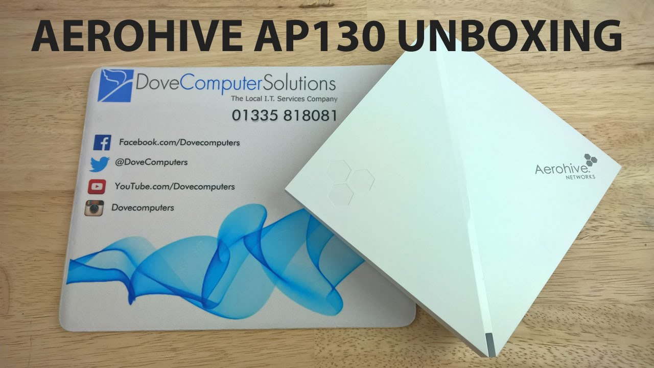 Aerohive AP130 Wireless Access Point 802 11ac Unboxing