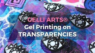 Gelli Arts® Gel Printing on Transparencies