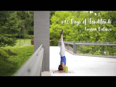 Forearm Balance Tutorial | YogaSlackers 12 Days of Handstands