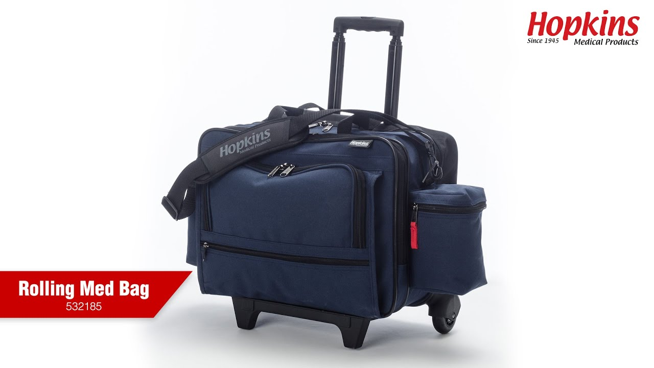 Nursing Bags On Wheels >> Rolling Med Bag With Ez View Features Hopkins Medical Products