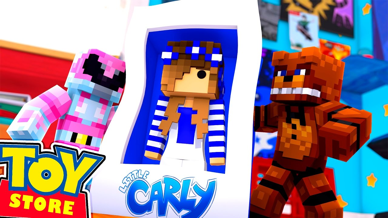 Minecraft Toy Freddy : Minecraft toy store saving barbie from freddy fasbear w