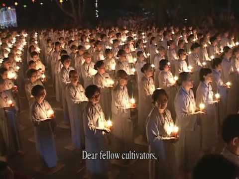 Đêm Hoa Đang Lễ Vía Phật A Di Đà Tại Chùa Hoằng Pháp 3/8