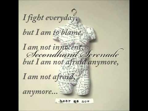 Hear Me Now Secondhand Serenade Ft. Juliet Simms (Lyrics)