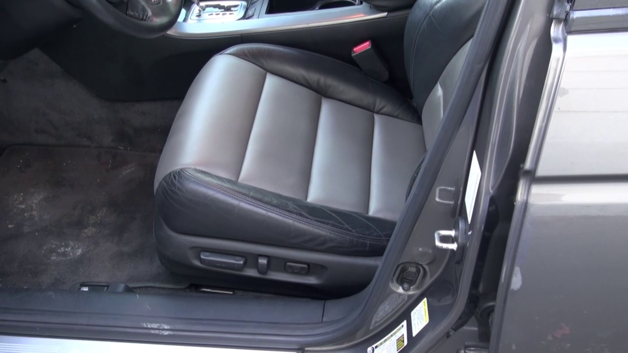Acura TL Front Leather Seat Repair By Cooks Upholstery YouTube - 2004 acura tl seat covers