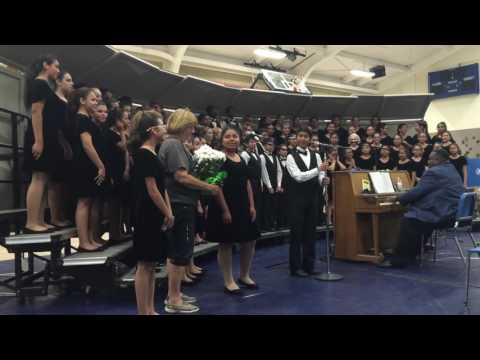 """Chemawa Middle School Combined Choirs singing """"This Is Chemawa"""""""
