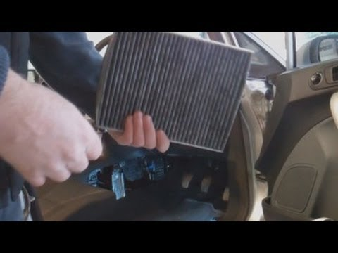 cabin pollen odour filter replacement ford fiesta mk7 2008 on youtube. Black Bedroom Furniture Sets. Home Design Ideas