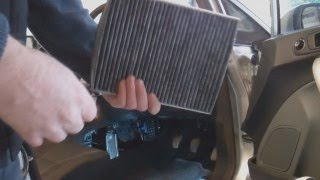 Cabin Pollen Odour filter replacement - Ford Fiesta Mk7 (2008 on)
