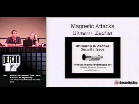 """DEFCON 17: Invisible Access: Electronic Access Control, Audit Trails and """"High Security"""""""