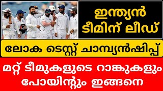 WORLD TEST CHAMPIONSHIP LATEST RANKING | CRICKET NEWS MALAYALAM