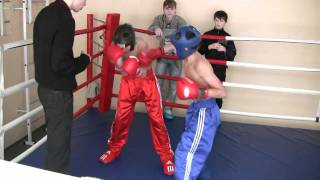 Кикбоксинг в Белгороде. Бой Армана Тонояна. 5.02.2011