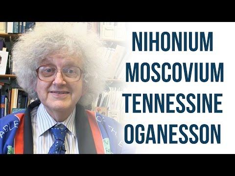 New Elements Named - Periodic Table of Videos