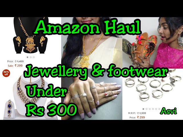 Amazon Jewellery & Footwear haul under Rs 300 Is it worth? Tried and tested review Asvi