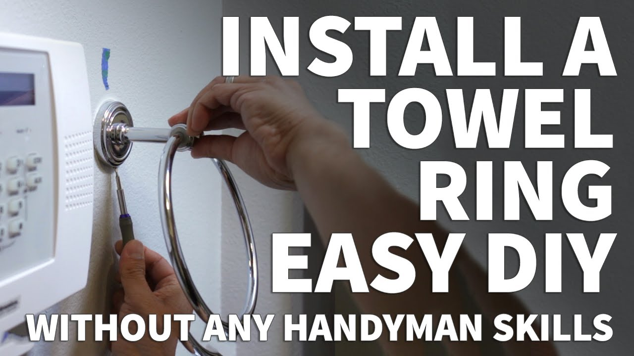 How To Install A Towel Ring Strong Towel Ring Installation Or
