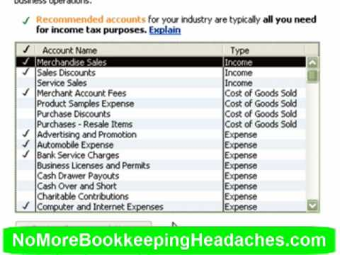 setting up the quickbooks chart of accounts youtube. Black Bedroom Furniture Sets. Home Design Ideas