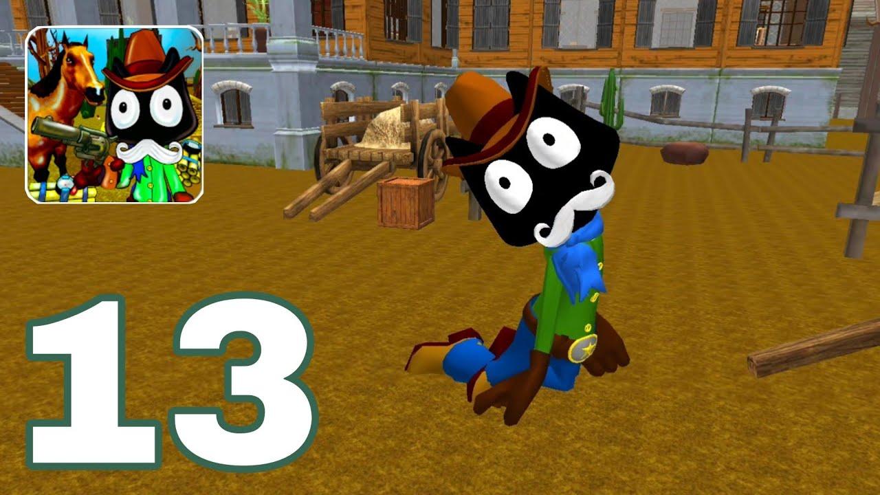 Cat Cowboy Cartoon Neighbor Escape Gameplay Level 13