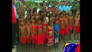 Niños del estado Bolívar entonan el Himno Nacional en el idioma Pemón