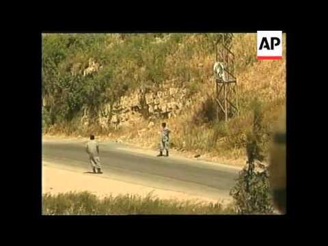 ISRAEL: LEBANON UN AND ISRAELI TROOPS AT BORDER