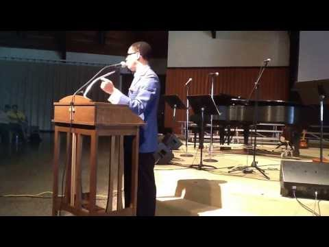 Warner Pacific College Chapel 10-24-13 ftg Sam Townsend and WPC Choir