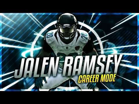 JALEN RAMSEY CAREER MODE! JACKSONVILLE JAGUARS 2016-2017 PREVIEW - MADDEN 17 CONNECTED FRANCHISE